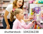 Mother And Daughter Shopping...