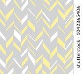 seamless boho chevron. hand... | Shutterstock .eps vector #1042365406