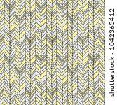 seamless boho chevron. hand... | Shutterstock .eps vector #1042365412