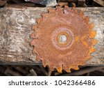 Old Rusty Saw Disk Texture Wit...