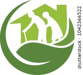 home for the care of the elderly | Shutterstock .eps vector #1042366522