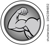 strongman icon illustration   a ... | Shutterstock .eps vector #1042384852