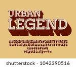 vector hipster retro style logo ... | Shutterstock .eps vector #1042390516