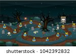 level map pack with halloween... | Shutterstock .eps vector #1042392832