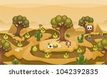 level map pack with desert and... | Shutterstock .eps vector #1042392835