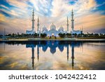 sheikh zayed grand mosque and... | Shutterstock . vector #1042422412