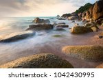 beautiful seascape with... | Shutterstock . vector #1042430995