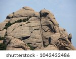the top of mount montserrat ... | Shutterstock . vector #1042432486