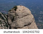 climbers on the top of the... | Shutterstock . vector #1042432702