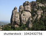 rocks around montserrat... | Shutterstock . vector #1042432756