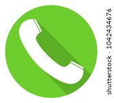 telephone receiver icon in...
