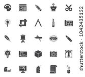 drawing tools vector icons set  ... | Shutterstock .eps vector #1042435132