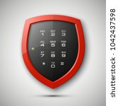 shield with electronic... | Shutterstock . vector #1042437598