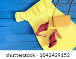 womens clothing  accessories ... | Shutterstock . vector #1042439152