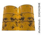 old rust metal barrel oil...   Shutterstock . vector #1042442848