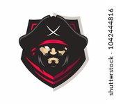 pirates vector logo icon... | Shutterstock .eps vector #1042444816