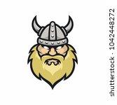 viking vector logo icon... | Shutterstock .eps vector #1042448272