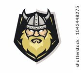 viking vector logo icon... | Shutterstock .eps vector #1042448275