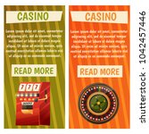 vector flat banners with casino ... | Shutterstock .eps vector #1042457446