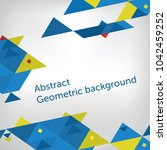abstract geometric triangle... | Shutterstock .eps vector #1042459252