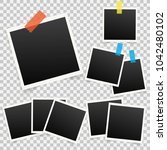 set of template photo frames... | Shutterstock . vector #1042480102