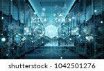 modern digital graph holograms...   Shutterstock . vector #1042501276