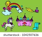 set of hand drawn fairy... | Shutterstock .eps vector #1042507636