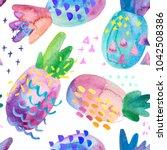 funny colorful decorative...   Shutterstock . vector #1042508386
