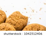 homemade ginger biscuit with... | Shutterstock . vector #1042512406
