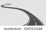 curved road with white markings.... | Shutterstock .eps vector #1042515268