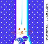happy easter bunny. vector...   Shutterstock .eps vector #1042516096