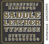 font design   handcrafted... | Shutterstock .eps vector #1042529095