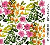 watercolor seamless pattern... | Shutterstock . vector #1042531402