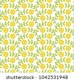 vector sunflowers seamless... | Shutterstock .eps vector #1042531948