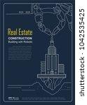 brochure template design...   Shutterstock .eps vector #1042535425