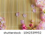 close up pink cherry blossoms | Shutterstock . vector #1042539952