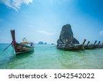 krabi thailand 3 feb 2018 ... | Shutterstock . vector #1042542022