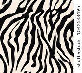 seamless zebra print  pattern ... | Shutterstock .eps vector #1042543495