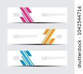vector abstract design banner... | Shutterstock .eps vector #1042544716