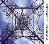 underneath an electricity pylon ...