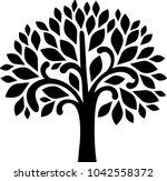 decorative tree series   Shutterstock .eps vector #1042558372