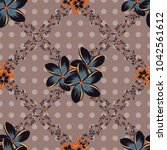 vintage abstract vector floral... | Shutterstock .eps vector #1042561612