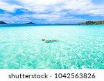 bora bora island  french... | Shutterstock . vector #1042563826