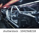 car frame structure on... | Shutterstock . vector #1042568218