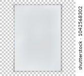 a6 format blank paper. vector... | Shutterstock .eps vector #1042568302