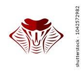 cobra snake sign symbol icon... | Shutterstock .eps vector #1042572982