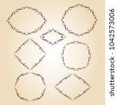 set vector retro frames .vector ... | Shutterstock .eps vector #1042573006