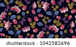 seamless floral pattern in... | Shutterstock .eps vector #1042582696