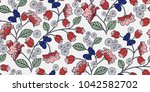 seamless floral pattern in... | Shutterstock .eps vector #1042582702