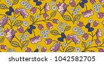 seamless floral pattern in... | Shutterstock .eps vector #1042582705